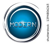 modern word on blue button | Shutterstock .eps vector #1394806265
