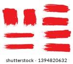 brush stroke set isolated on... | Shutterstock .eps vector #1394820632