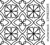 black and white ornate...   Shutterstock .eps vector #1394822345
