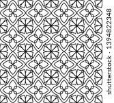 black and white ornate...   Shutterstock .eps vector #1394822348