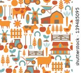 seamless pattern with farm... | Shutterstock .eps vector #139485095