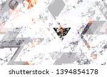 seamless urban geometric grunge ... | Shutterstock .eps vector #1394854178