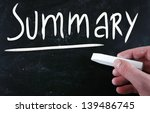 """summary"" handwritten with... 