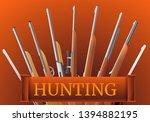 hunting rifle type concept... | Shutterstock .eps vector #1394882195
