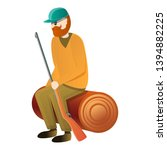 hunter stay on stamp icon....   Shutterstock .eps vector #1394882225