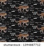 leopard vector seamless pattern ...   Shutterstock .eps vector #1394887712