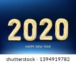 2020 happy new year black... | Shutterstock .eps vector #1394919782