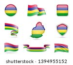 mauritius flags collection.... | Shutterstock .eps vector #1394955152