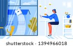 help for woman robot window... | Shutterstock .eps vector #1394966018