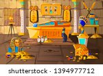 ancient egypt tomb of pharaoh... | Shutterstock .eps vector #1394977712