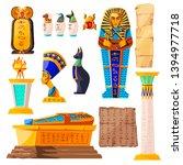 ancient egypt vector cartoon... | Shutterstock .eps vector #1394977718