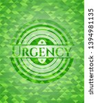 urgency green emblem with... | Shutterstock .eps vector #1394981135