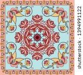 vector ornament paisley bandana ... | Shutterstock .eps vector #1394991122