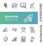 education line icon set. set of ... | Shutterstock .eps vector #1395001988