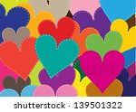 colorful vector background with ... | Shutterstock .eps vector #139501322