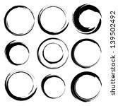 set of grunge circle brush... | Shutterstock . vector #139502492