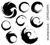 sset of grunge circle brush... | Shutterstock . vector #139502495