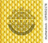 asparagus golden badge. scales...   Shutterstock .eps vector #1395052178