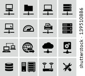 internet  server  network icons | Shutterstock .eps vector #139510886