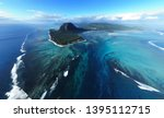 aerial view of tropical island... | Shutterstock . vector #1395112715