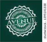 avenue with chalkboard texture. ...   Shutterstock .eps vector #1395141338