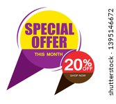 sale and special offer tag ... | Shutterstock .eps vector #1395146672