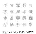 digital help line icons  signs  ... | Shutterstock .eps vector #1395160778