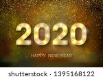 2020 happy new year. new year...   Shutterstock .eps vector #1395168122