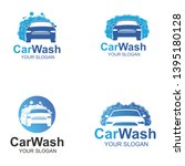 car wash logo template design   Shutterstock .eps vector #1395180128