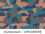 camouflage pattern. brown sand... | Shutterstock .eps vector #1395180458