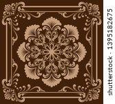 decorative frame in vintage... | Shutterstock .eps vector #1395182675