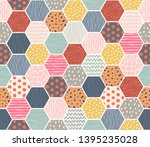 template seamless abstract... | Shutterstock .eps vector #1395235028