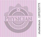 physician vintage pink emblem....   Shutterstock .eps vector #1395235775