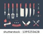 vintage meat set. set of meat...   Shutterstock .eps vector #1395253628
