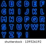 blue neon signs with all... | Shutterstock . vector #139526192