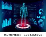 3d low poly human body hud... | Shutterstock .eps vector #1395265928