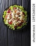 sonoma salad with chicken... | Shutterstock . vector #1395268328