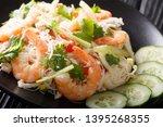 thai noodle salad  yum woon sen ... | Shutterstock . vector #1395268355