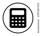 calculator icon. thin circle...