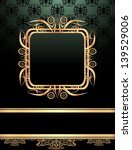 vintage frame on damask... | Shutterstock .eps vector #139529006