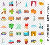 metropolis icons set. cartoon... | Shutterstock .eps vector #1395294038