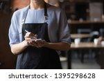 Close Up Attractive Waitress...