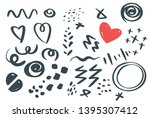 abstract hand drawn vector...
