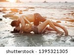 young attractive couple...   Shutterstock . vector #1395321305
