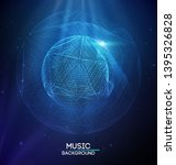 music abstract background blue. ... | Shutterstock .eps vector #1395326828