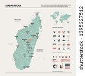 vector map of madagascar....   Shutterstock .eps vector #1395327512