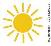 sun icon. simple vecor sun... | Shutterstock .eps vector #1395329228