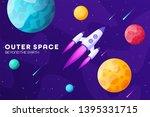 space futuristic modern... | Shutterstock .eps vector #1395331715