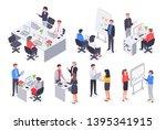 isometric business office team. ... | Shutterstock .eps vector #1395341915