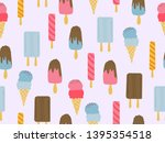 summer theme seamless pattern... | Shutterstock .eps vector #1395354518
